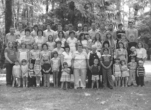 The Ballard family at one of their many yearly gatherings, circa 1980.