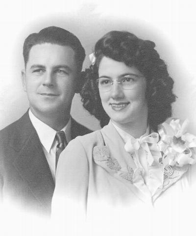 Louie & Polly's wedding portrait, July 1945
