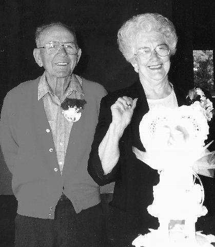 Louie & Polly at their 50th wedding anniversary.