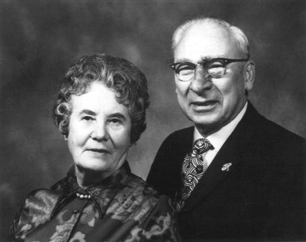 Helen and Ervin C. Reiman in their golden wedding anniversary portrait